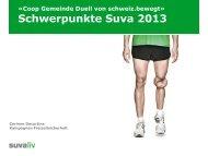 Schweiz.bewegt 2011: Die Suva-Inhalte
