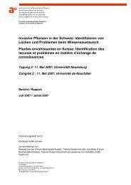 Invasive Pflanzen in der Schweiz - transdisciplinarity.ch