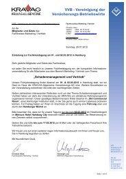 Schadenmanagement und Vertrieb - Vereinigung der Versicherungs ...