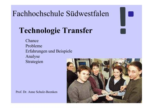 Technologie Transfer - Wirtschaftsförderung Kreis Soest