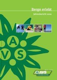 AVS Jahresbericht 2010 - Alpenverein Südtirol