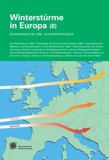 Winterstürme in Europa (II): Schadensanalyse 1999 ... - Planat