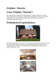 Zeltplatz - Datscha Unser Zeltplatz