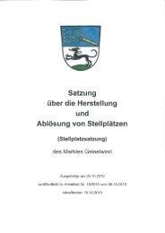 Satzung - Geiselwind