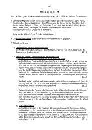163 N iederschrift über die Sitzung des Marktgemeinderats am ...