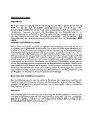 Investitionsprogramm Allgemeines Nach § 53 der ... - Kreis Euskirchen