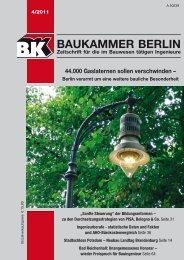 Berlins Gasleuchten - Baukammer Berlin