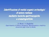 S. Bruni, V. Guglielmi - Dipartimento di Scienze Archeologiche