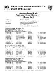 Ausschreibung Regionale Nord 2011 - TSV Lindau 1850 e.V.