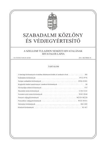 PDF 40,4 MB - Szellemi Tulajdon Nemzeti Hivatala