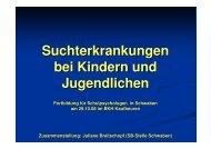 Suchterkrankungen bei Kindern und Jugendlichen - Staatliche ...