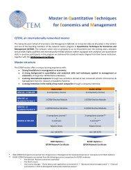Master in Quantitative Techniques for Economics and Management