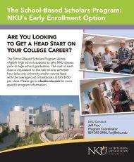 The School-Based Scholars Program - Northern Kentucky University