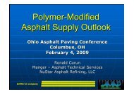 Asphalt and Polymer Supply Outlook - Flexible Pavements of Ohio