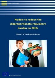 Models to reduce the disproportionate regulatory burden on SMEs ...
