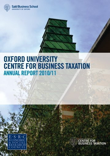 Annual Report - Said Business School - University of Oxford