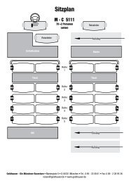 Sitzplan - Geldhauser