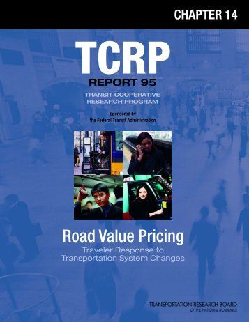 TCRP Report 95 – Traveler Response to Transportation System ...