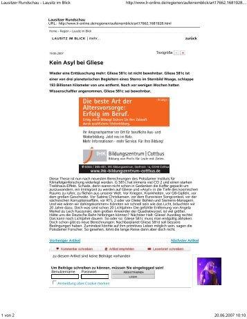 Lausitzer Rundschau Lausitz im Blick http: www.lr online.de ...
