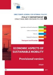 economic aspects of sustainable mobility study provisional version
