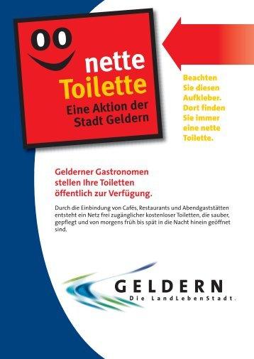 Nette Toilette - Gelderner Gastronomen stellen Ihre ... - Stadt Geldern