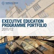 executive education Programme Portfolio - Said Business School ...
