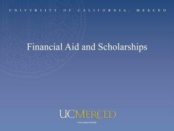 Financial Aid - Orientation - University of California, Merced