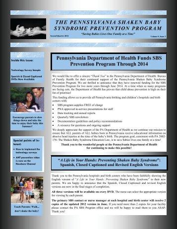 Pennsylvania Department of Health Funds SBS Prevention Program ...