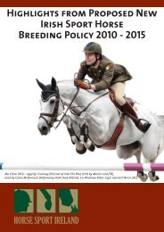 Highlights from Proposed New Irish Sport Horse Breeding Policy ...