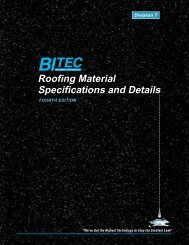 Roofing Material Specifications and Details - BITEC, Bitumen ...