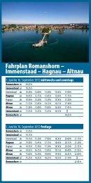 Flyer Fahrplan Romanshorn - Immenstaad