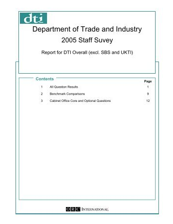 Department of Trade and Industry - The Civil Service