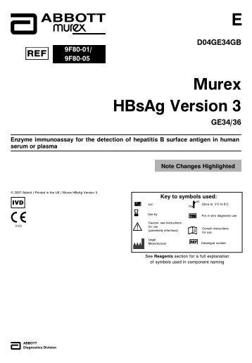 Murex HBsAg Version 3