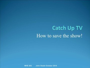 How To Save The Show!
