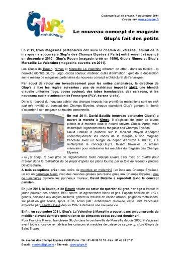 Le nouveau concept de magasin Glup's fait - SBS.com Franchise