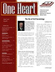 One Heart Journal - Oklahoma City School of Biblical Studies