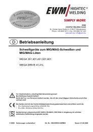 WEGA 351, 401, 451, 501, 601 - Reiz GmbH