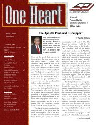 One Heart Journal - Oklahoma City School of Biblical Studies