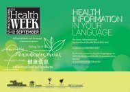 HealtH InformatIon in your language