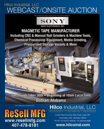 to Download Brochure - CNC AUCTIONS