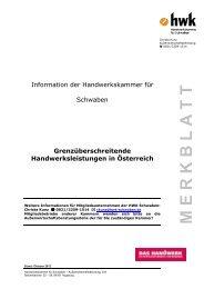 Merkblatt Grenzüberschreitende Handwerksleistungen in Österreich ...