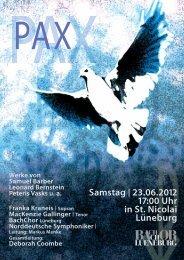 Programm Konzert PAX (pdf 0,43 MB) - Lüneburg