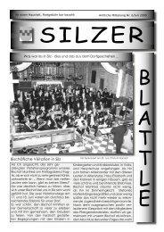 Achtung! Bitte vormerken! - Gemeinde Silz - Land Tirol