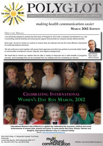 2012 - NSW Multicultural Health Communication Service