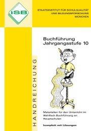 Buchführung Jahrgangsstufe 10 mit Lösungen (pdf) - ISB - Bayern