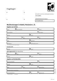 Fragebogen zur Anmeldung von Musiknutzungen in Hotels ...