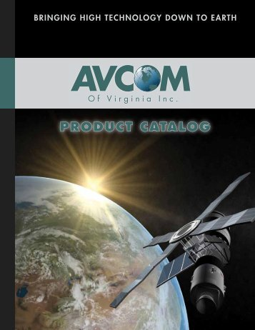 PRODUCT CATALOG - AVCOM of Virginia Incorporated