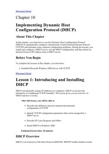 DHCP - RKiMR