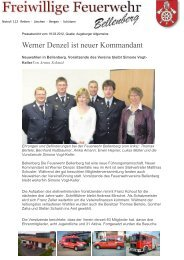 Werner Denzel ist neuer Kommandant - Gemeinde Bellenberg