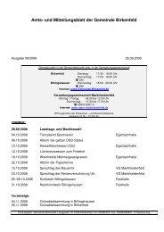 Amts- und Mitteilungsblatt der Gemeinde Birkenfeld